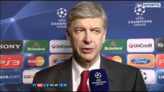 Arsenal 3-0 AC Milan - Arsene Wenger Interview - 6th March 2012 - [HQ]