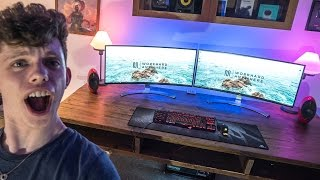 ultimate office gaming desk is complete
