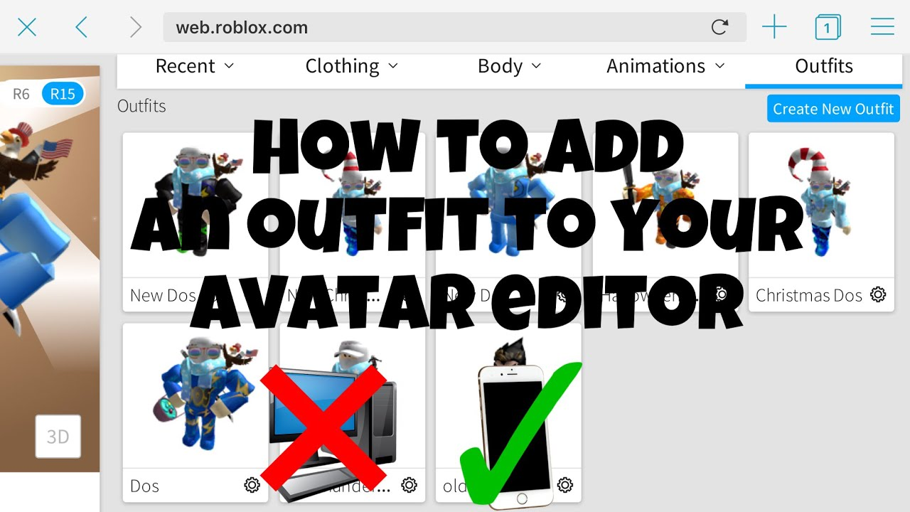 How To Make An Outfit In Roblox With An Iphone Outdated Youtube