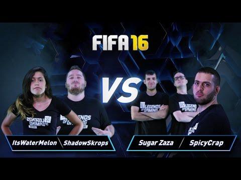 פרק 17: Sugar Zaza & SpicyCrap vs ItsWaterMelon & ShadowSkrops - Fifa