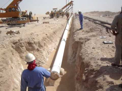 UG Pipe Laying in North Oman Desert