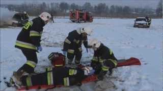 OSP UJAZD : Pokaz strażacki dla WOŚP (woj. Łódzkie)