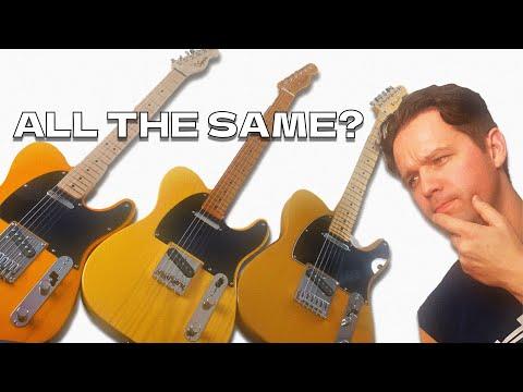 MASSIVE Butterscotch Telecaster Comparison! - Squire Affinity VS Classic Vibe 50s VS Fender Player