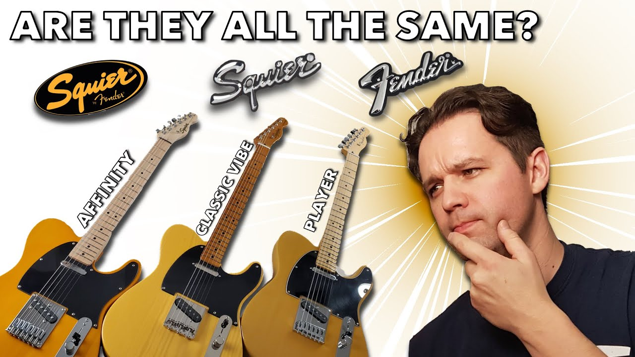 Massive Butterscotch Telecaster Comparison Squier Affinity Vs Classic Vibe 50s Vs Fender Player Youtube