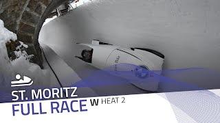 St. Moritz | Women's Monobob World Series Heat 2 | IBSF Official
