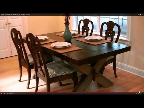 Building a rustic farm table, step by step with wood from my sawmill