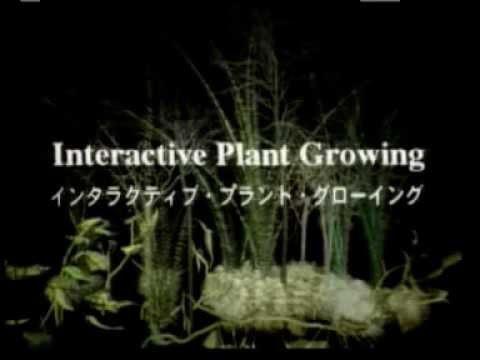 Interactive Plants Growing - Christa Sommerer e Laurent Mignonneau.