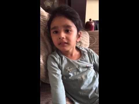 A 3 year old singing see you again