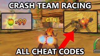 Crash Team Racing - All Cheat Codes - Secret Characters, Infinite Boost, Invisibility, 99 Wumpa, etc