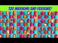 HUGE 120 MASHEMS and FASHEMS Toys with No Duplicates