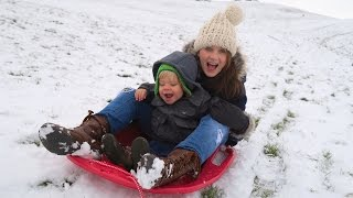 Toddler Sled - AMAZING SLEDDING TODDLER!