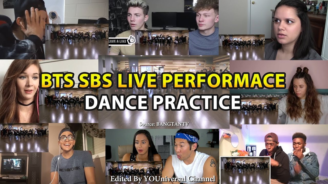 BTS SBS Live Performance Dance Practice | Reaction Mashup