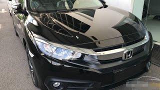Honda civic 2018 in black #review