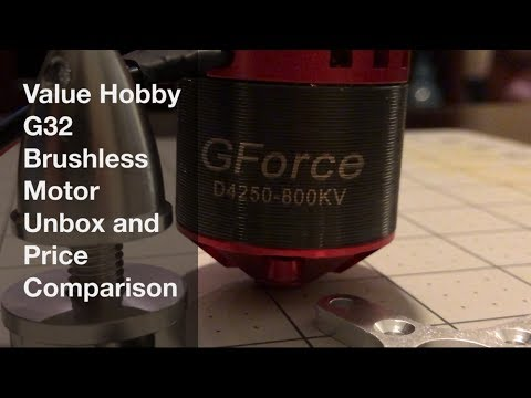 Value Hobby G32 Brushless Motor Unbox and Price Comparison