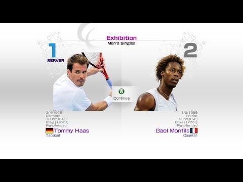virtua-tennis-4-sega-tommy-haas-vs-gael-monfils-rafael-nadal-roger-federer-andy-murray-novak