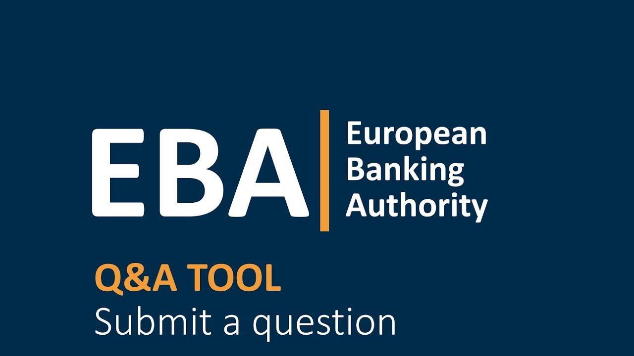 Single Rulebook Q&A - European Banking Authority