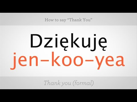 """How to Say """"Thank You"""" in Polish 