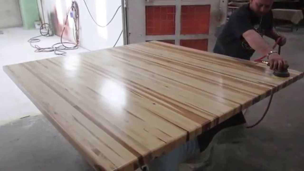 Butcher Block Counter Tops And Edge Grain Butcher Block   YouTube