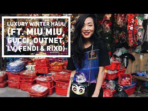 Luxury Winter Clothing+Accessories Haul p.2 (Miumiu, Gucci, Outnet, LV, Fendi, Rixo)