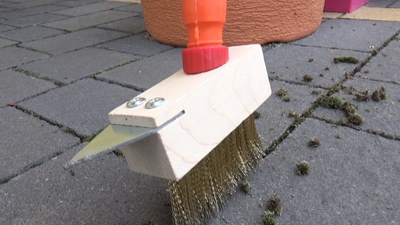 how to remove moss from paving garden tips