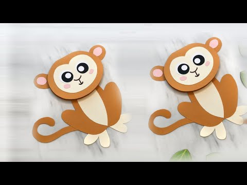 How To Make Cute Monkey With Paper Easy