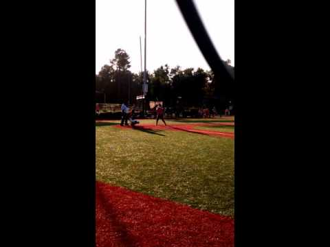 Abbey Parrish batting