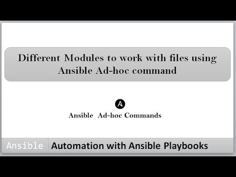 Automation with Ansible Playbooks | Different modules to