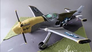 Making a 3D Plane / Airplane Cake - WWII P-51 Mustang - Cakes, Elevated