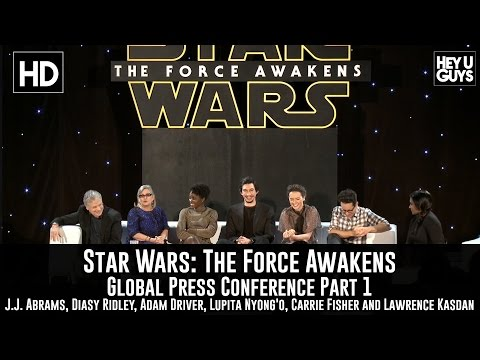 Star Wars: The Force Awakens Press Conference - JJ Abrams, Carrie Fisher, Daisy Ridley & Adam Driver