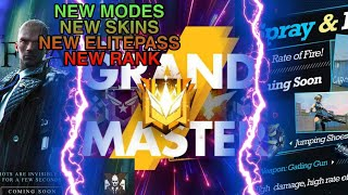 New Modes,New Skins ,New Elite Pass ,New Rank Season Free Fire battlegrounds 2019