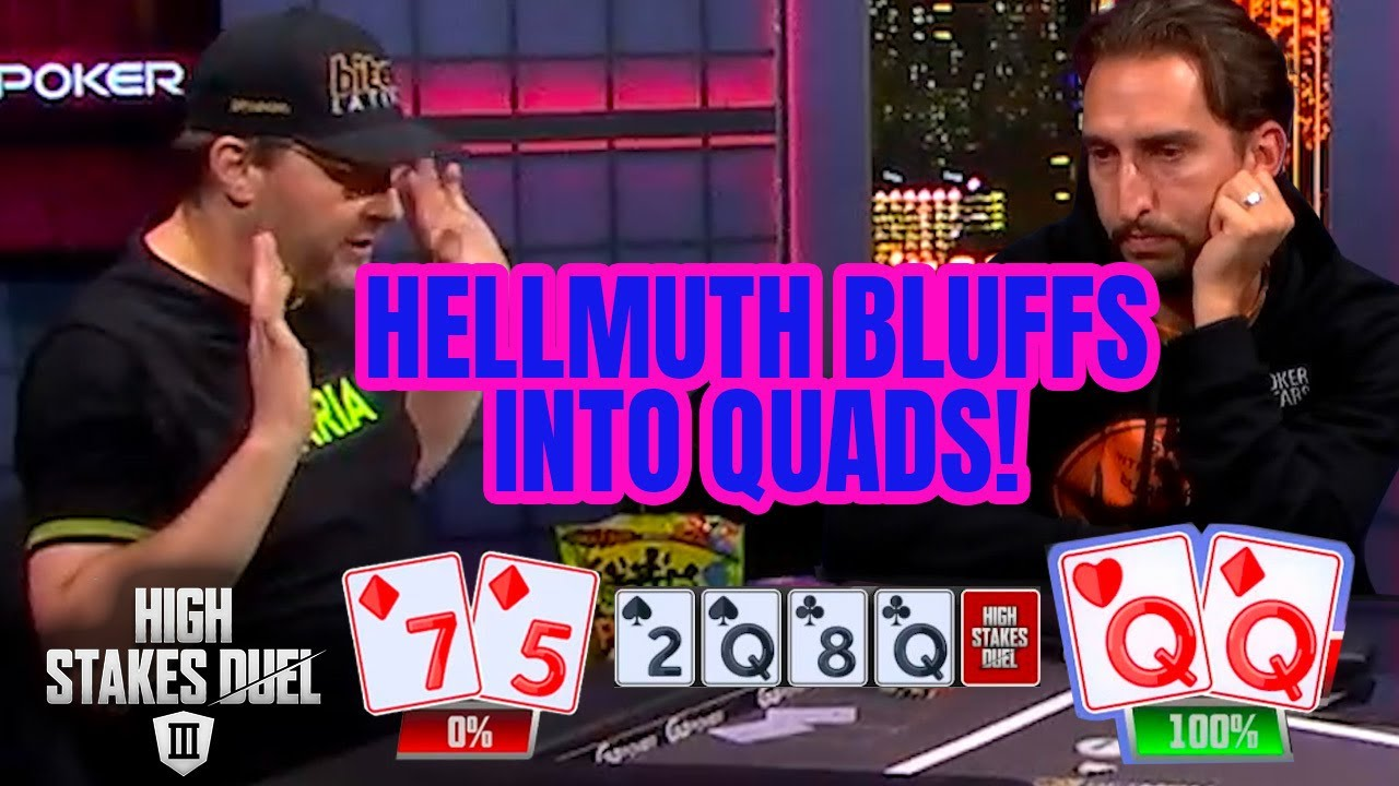 Phil Hellmuth Hates Himself For Bluffing Into Quads!