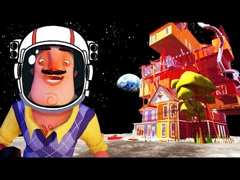 WHAT IF HELLO NEIGHBOR TOOK PLACE ON THE MOON?! LOW GRAVITY MODE! | Hello Neighbor Beta 3 Gameplay