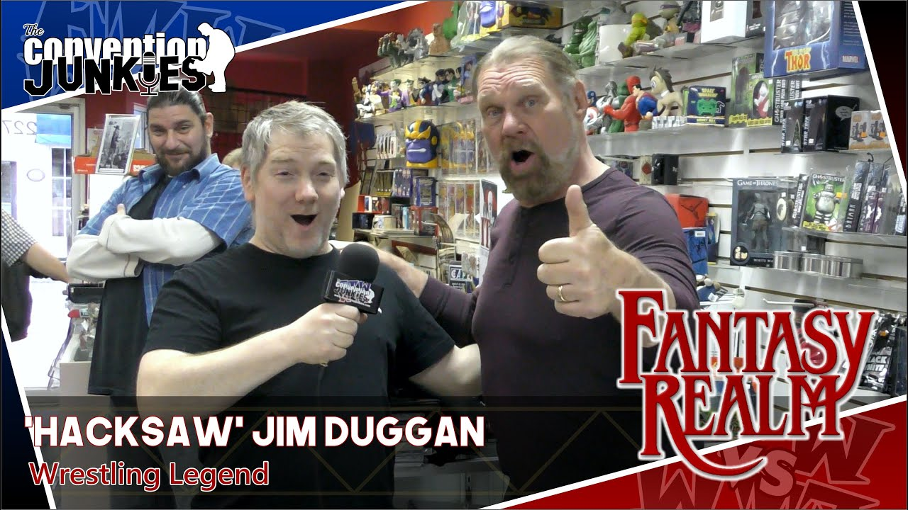 "Interview with WWE Wrestling Legend ""Hacksaw"" Jim Duggan at Fantasy Realm in Cornwall, Ontario"