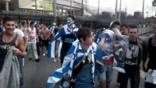 Greek fans in Melbourne after Marcos Baghdatis won round 1 Australian Open (Video #2)