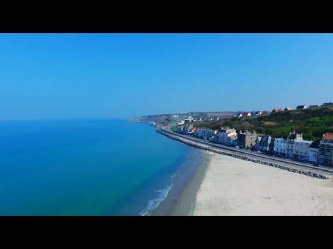 La côte de Boulogne-Sur-Mer - Visite guidée en drone 4K