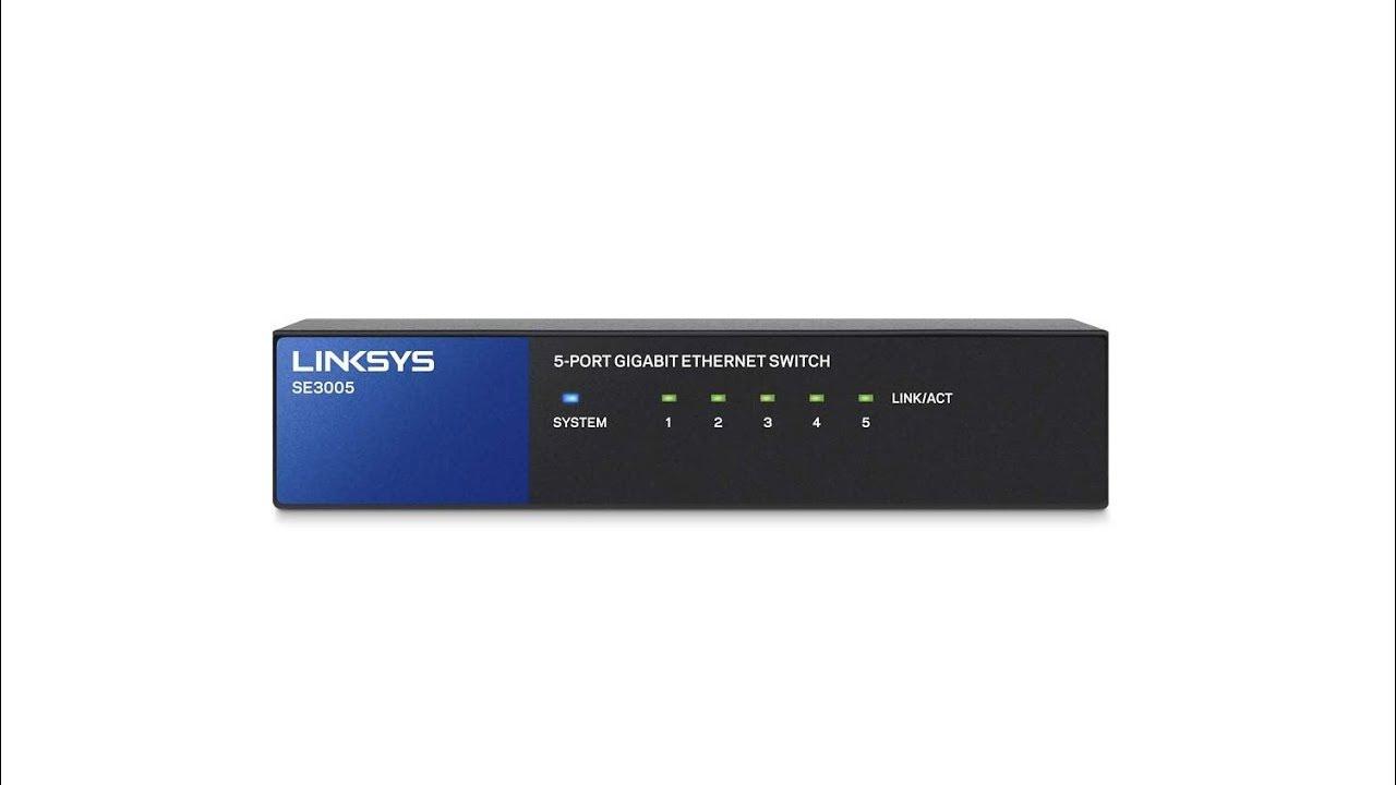 Linksys Gigabit Ethernet Switch SE3005 Unboxing (UK)