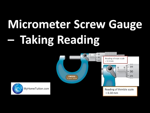 Micrometer Screw Gauge - Taking Reading | Physics | Myhometuition.com