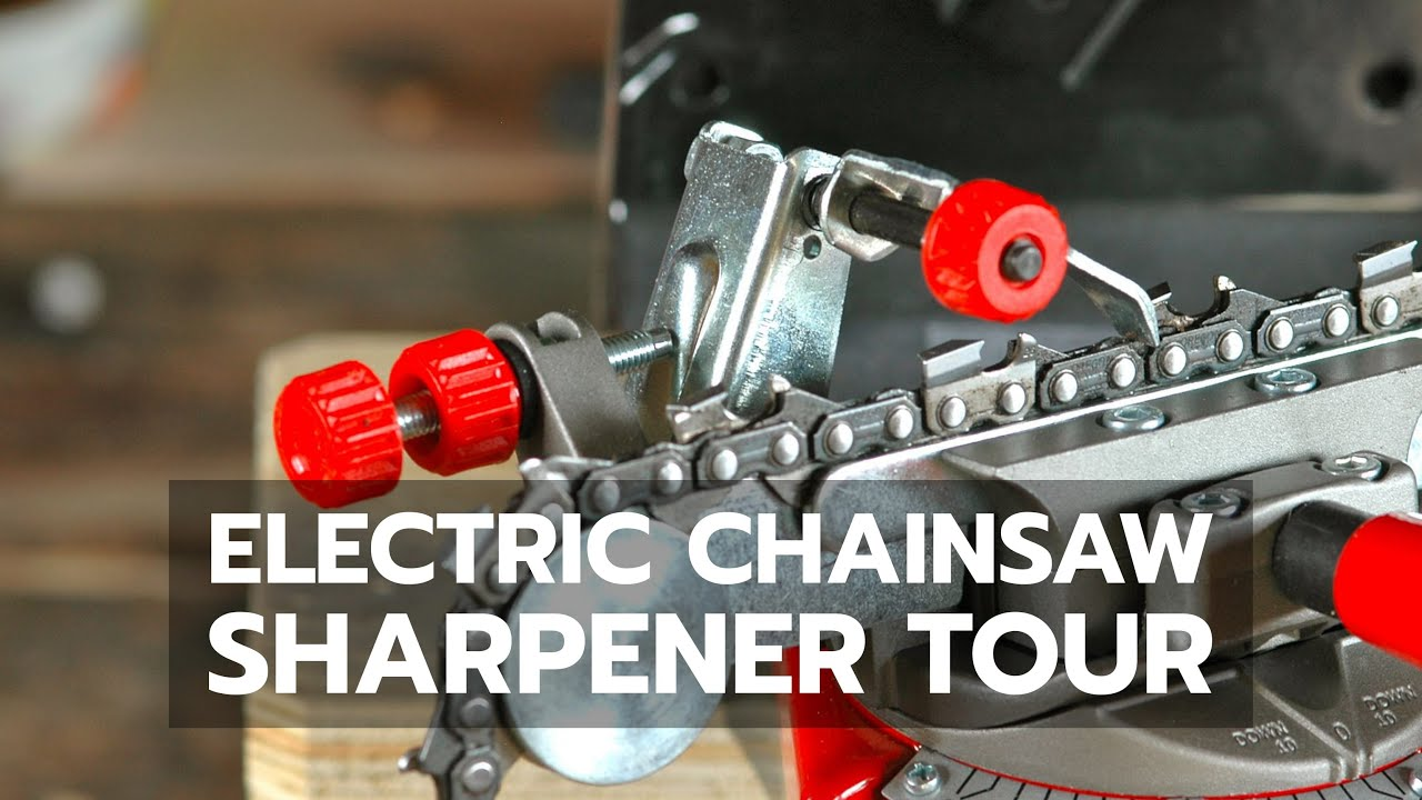 HOW TO SHARPEN A CHAINSAW: Electric Sharpener Faster & Better