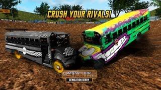 School Bus Demolition Derby Android Gameplay