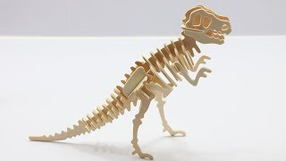 DIY Miniature Tyrannosaurus ~ 3D Woodcraft Construction Kits
