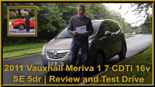 Review and Virtual Video Test Drive In Our 2011 Vauxhall Meriva 1 7 CDTi 16v SE 5dr PJ11JRU