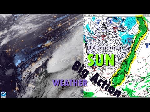 a Big Storm is unfolding over the USA as Earth faces off with Sunspot AR2699