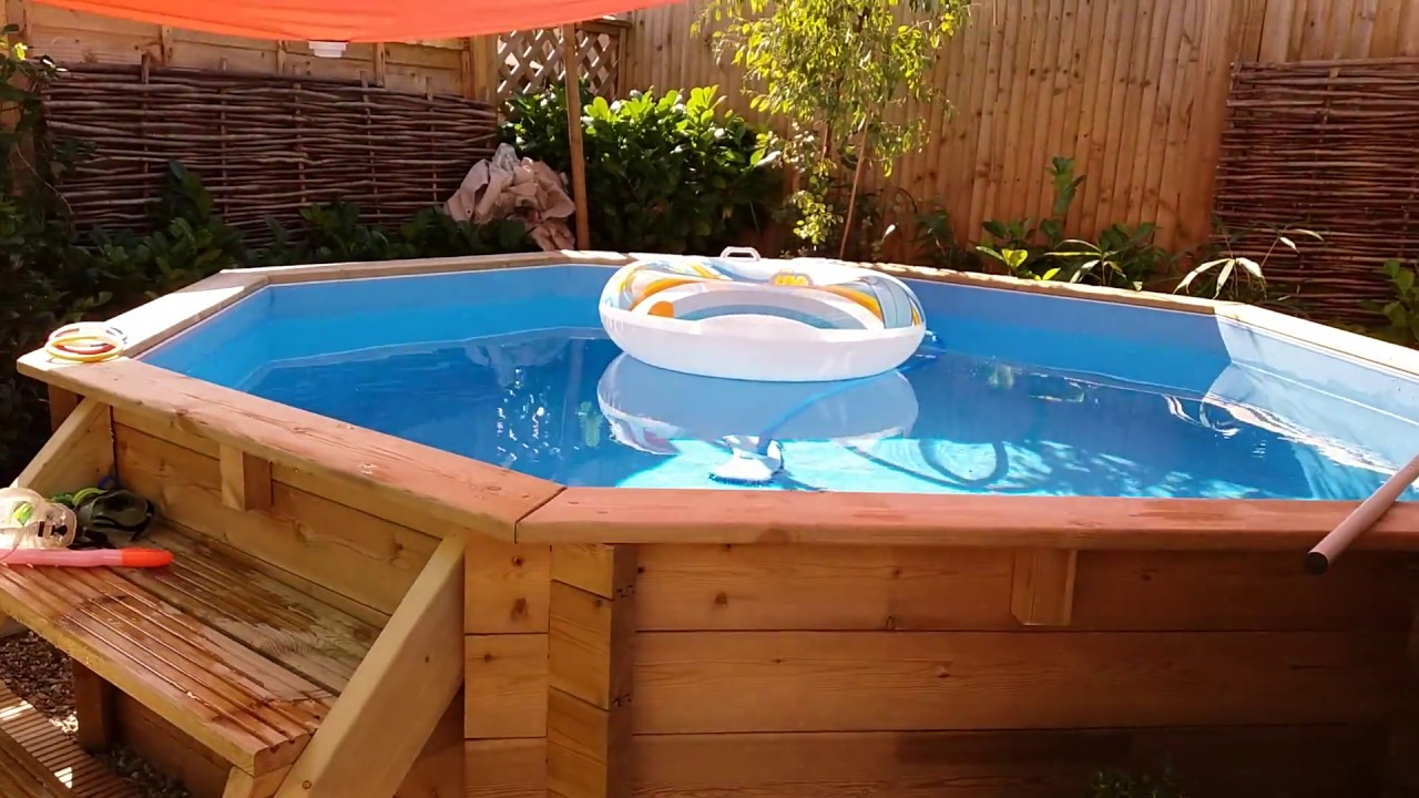 Above Ground Plastica Self Build Swimming Pool 10ft X 10ft By 4ft Deep Youtube