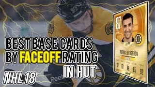 NHL 18 HUT | Best Gold Cards by Faceoff Rating
