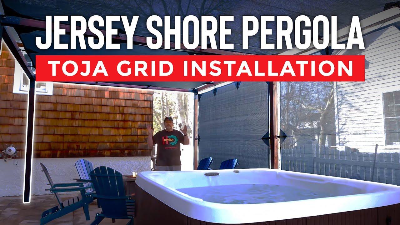 Jersey Shore Pergola Toja Grid Installation Youtube