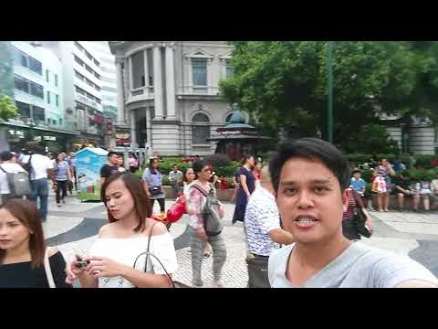 Macau Downtown Central Plaza Area