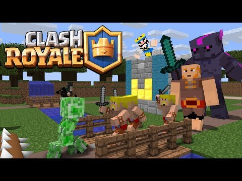 Monster School: Clash Royale Battle - Minecraft Animation