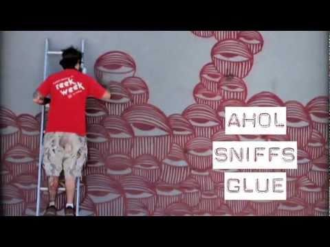 Street Artist Ahol Sniffs Glue on Crane.tv