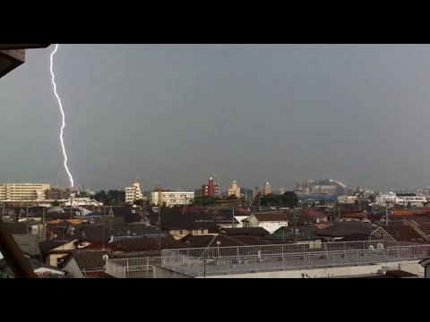 Crazy electrical storm over Tokyo