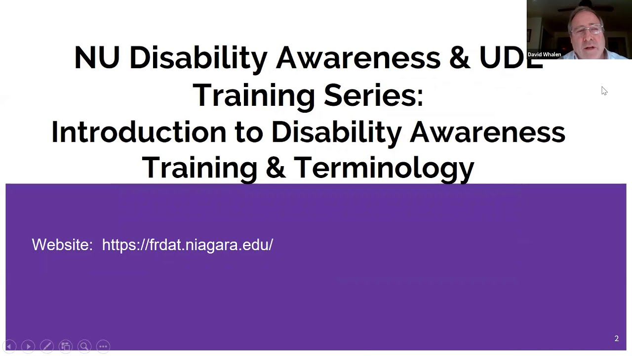 NU Disability Awareness and UDL Training Series: Session 1